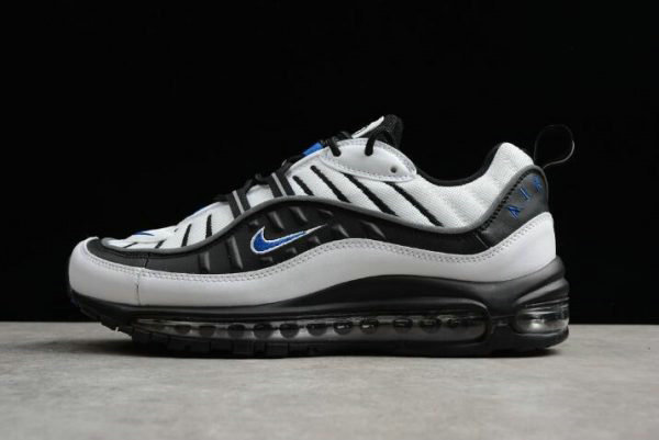 Cheap Wholesale Nike Air Max 98 OG Gundam Black White Blue Mens Size 640744-108