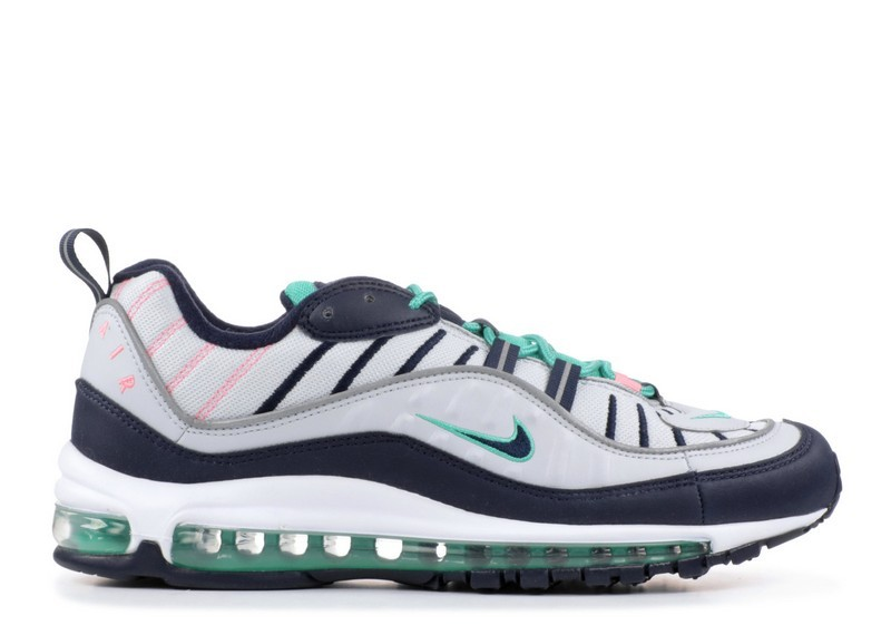 Cheap Wholesale Nike Air Max 98 South Beach 640744-005 Pure Platinum Obsidian Kinetic Green