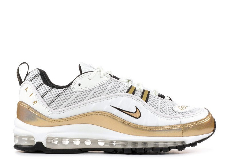 Cheap Wholesale Nike Air Max 98 Uk Prime Meridian Aj6302-100 Summit White Metallic Gold