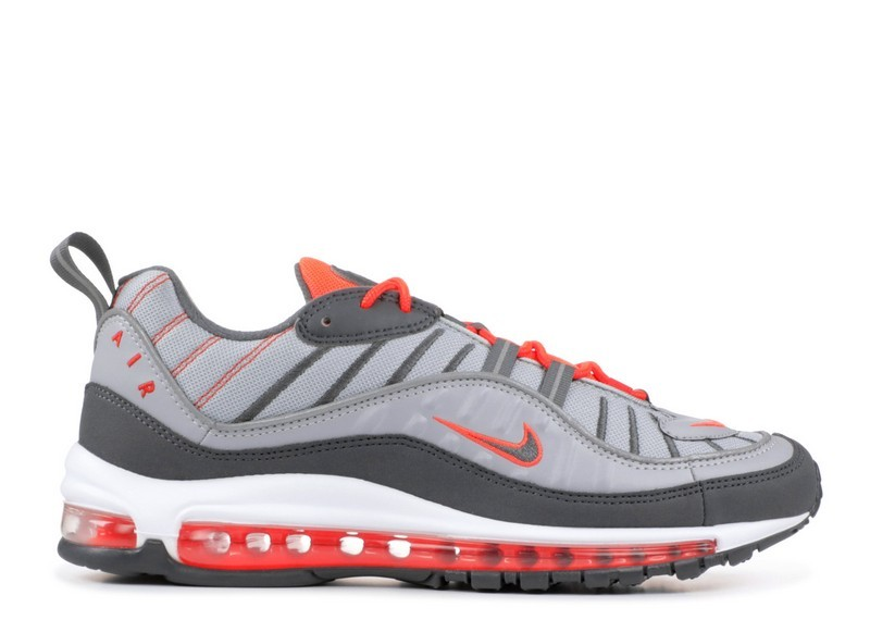 low priced 69a83 3e15d Cheap Wholesale Nike Air Max 98 Wolf Grey Dark Grey Total Crimson 640744-006