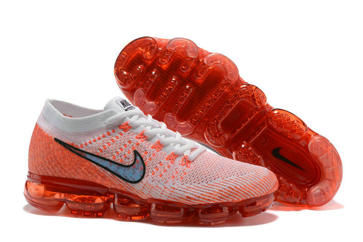 hot sale online 20890 bbb59 Nike Air Max Cheap Wholesale Nike Air VaporMax Flyknit Running Laser Orange  White Blue
