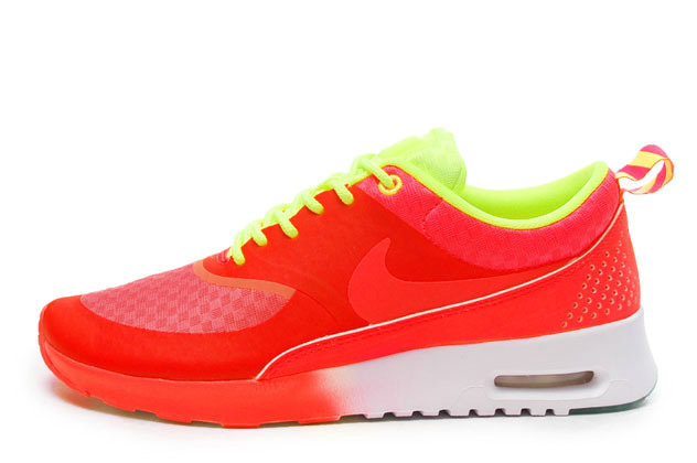 Nike Air Max Thea Peach Red Neon Green