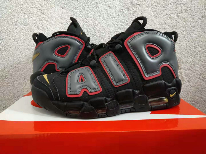 Cheap Wholesale Nike Air More Uptempo 917593-002 Black Hot Punch-Volt