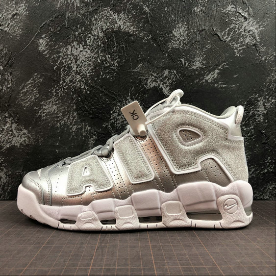 Wholesale Cheap Nike Air More Uptempo Mens Womens 917593-003 Metallic Silver Argent Metallique