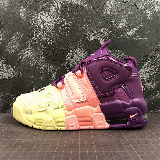 Wholesale Cheap Nike Air More Uptempo Womens AV8237-800 Citron Tint Pink Tint Nuance Rose Pale