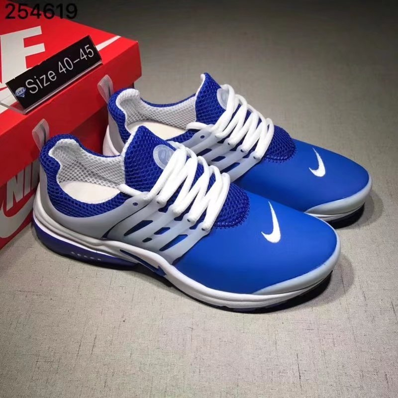 Nike Air Presto Cheap Wholesale Air Presto Leather White Blue