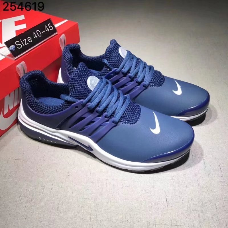 Nike Air Presto Cheap Wholesale Air Presto Leather White Navy Blue