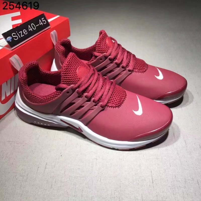 Nike Air Presto Cheap Wholesale Air Presto Leather White Red