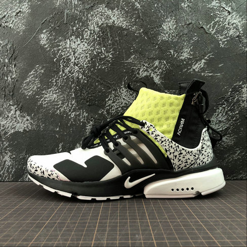 Cheap Wholesale Nike Air Presto Mid ACRONYM AH7832-600 Fluorescent Green White Black