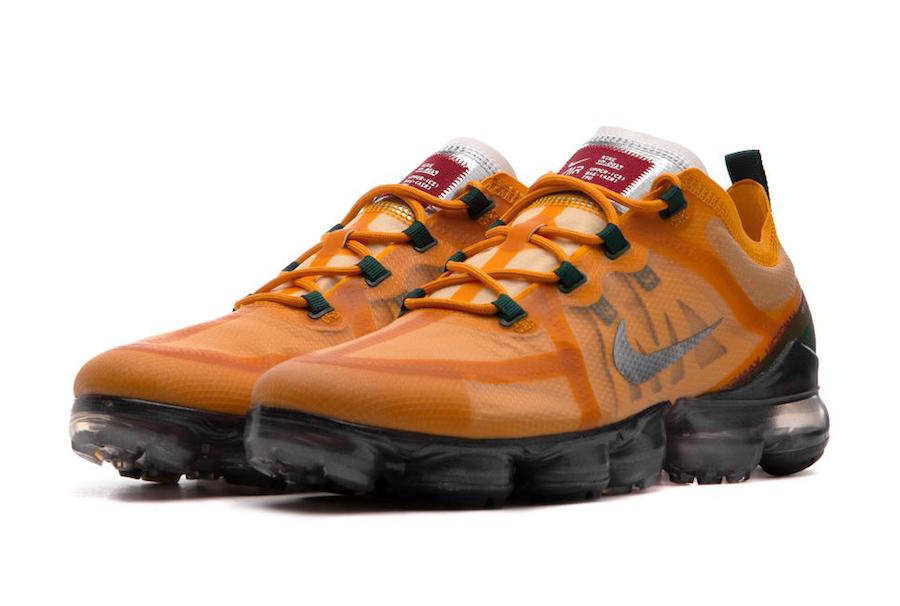Wholesale Cheap Nike Air VaporMax 2019 AR6631-700 Canyon Gold Metallic Silver-Terra Orange
