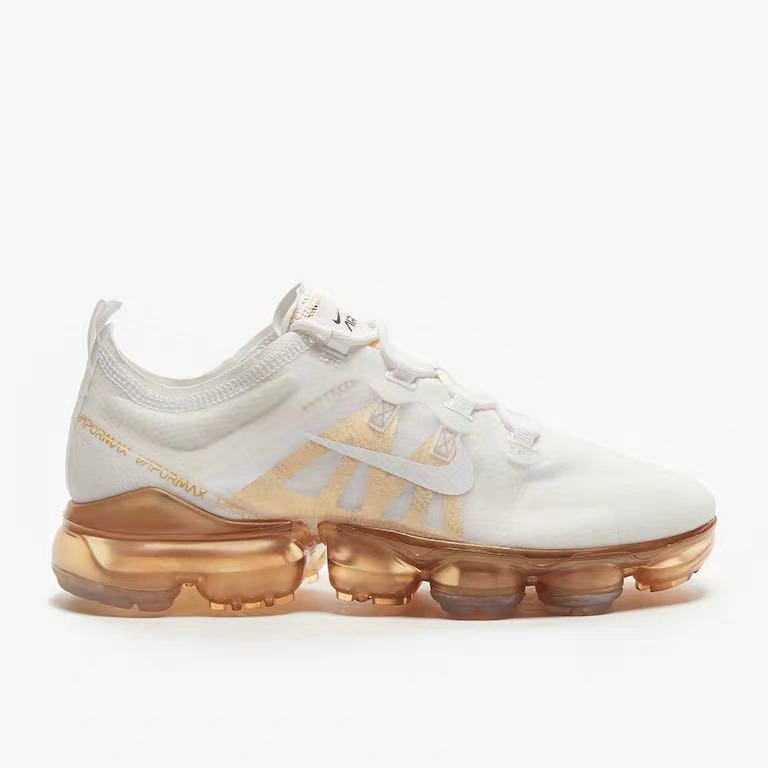 Wholesale Nike Air VaporMax 2019 Premium White White-Metallic Gold AR6632-101