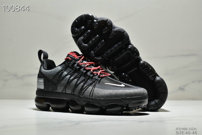 Wholesale Cheap Nike Air VaporMax Run Utility Black Reflective Silver Anthracite Habanero Red