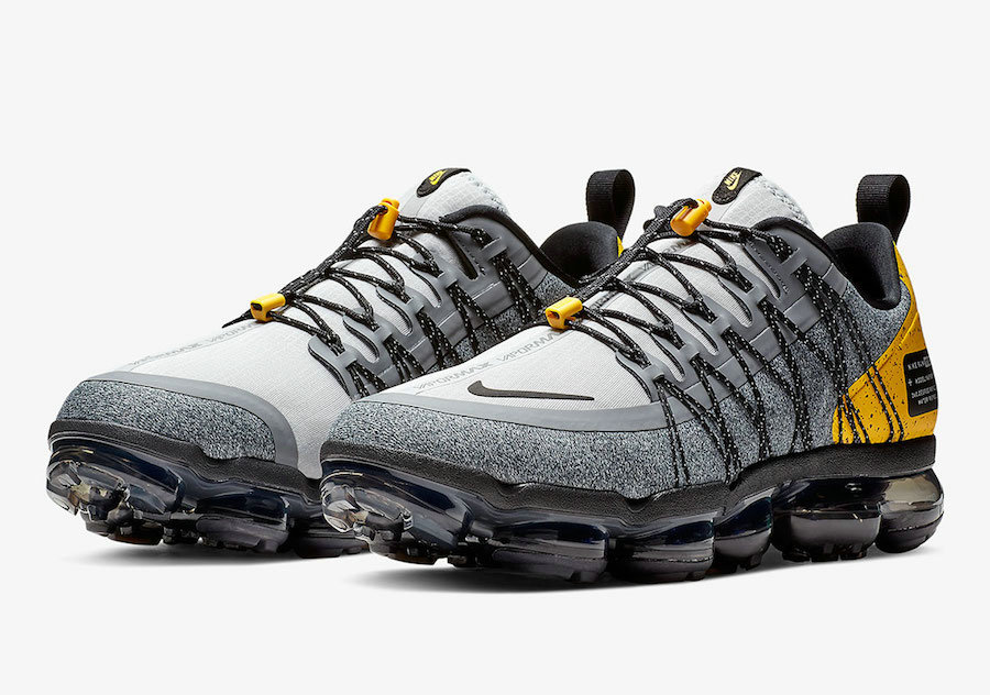 Wholesale Cheap Nike Air VaporMax Run Utility Wolf GreyAmarillo-Cool Grey-Black AQ8810-010