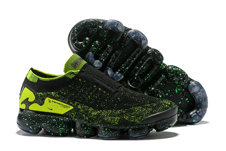 Wholesale Nike Air Vapormax FLYKNIT MOC 2 Acronym Mens Fluorescent Green Black