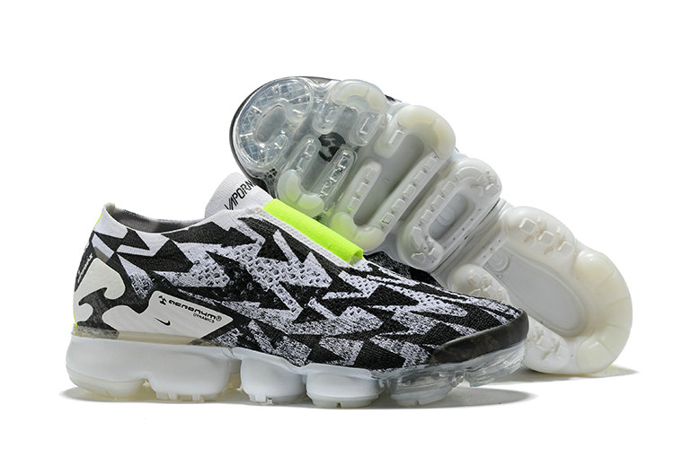 Wholesale Nike Air Vapormax FLYKNIT MOC 2 Acronym Mens Grey Black Fluorescent Green