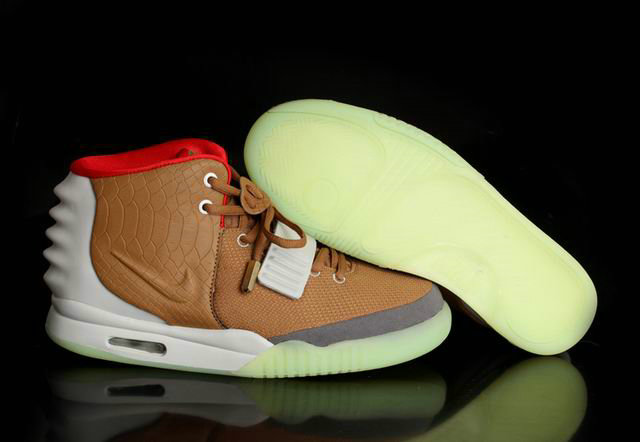 Nike Air Yeezy 2 Brown White Grey Red