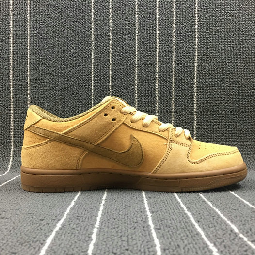 Wholesale Cheap Nike Dunk SB Low TRD QS Womens 883232-700 Dune Twig Wheat Gum Med Brown Bleat Brindille