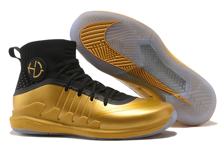 Nike Hyperdunks Cheap Wholesale Nike Hyperdunk 2017 TB Black Gold