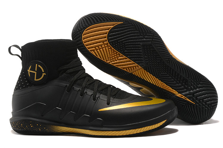 Nike Hyperdunks Cheap Wholesale Nike Hyperdunk 2017 TB Gold Black