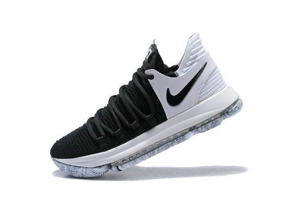 Cheap Wholesale Nike KD 10 Black White Mens Basketball Shoes 897815-008