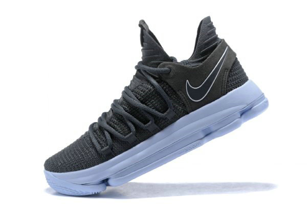 Cheap Wholesale Nike KD 10 Dark Grey Reflective Silver Mens Basketball Shoes 897815-005