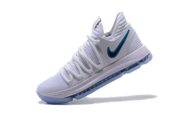Cheap Wholesale Nike KD 10 Numbers White Game Royal-University Gold Basketball Shoes 897815-101