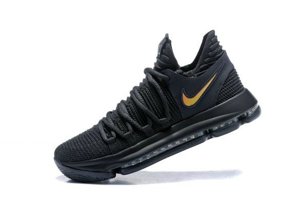Cheap Wholesale Nike KD 10 PK80 Black Metallic Gold Mens Basketball Shoes