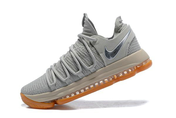 Cheap Wholesale Nike KD 10 Pale Grey Light Bone-Gum Mens Basketball Shoes 897817-001