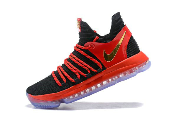 Cheap Wholesale Nike KD 10 University Red AJ7220-076 Mens Basketball Shoes