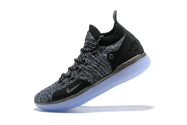 Cheap Wholesale Nike KD 11 EP Oreo Black Grey Kevin Durants Signature Basketball Shoes AO2605-004