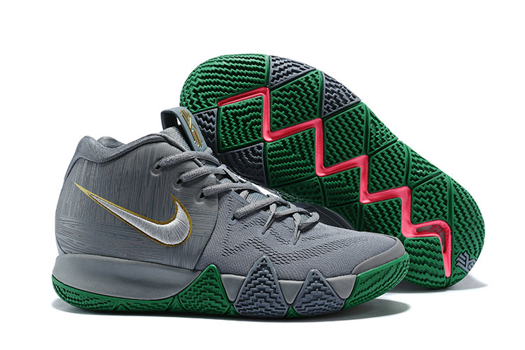 2018 Cheap Wholesale Nike Kyrie 4 City Of Guardians Silver Metallic Gold-Light Gum Brown-Gold