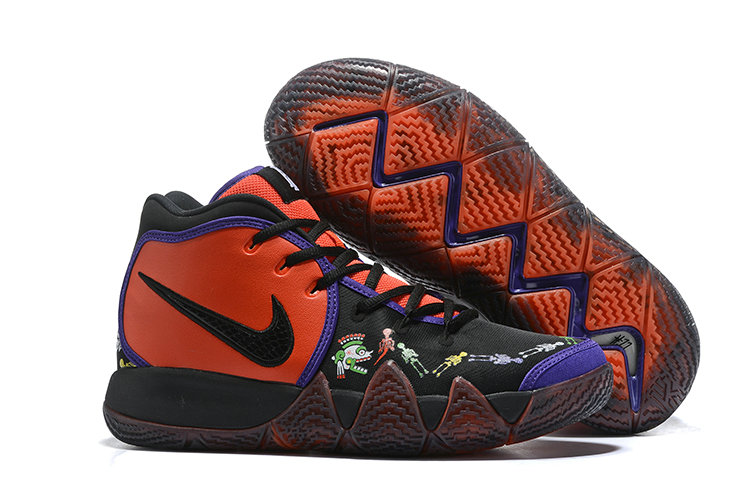 Wholesale Cheap Nike Kyrie 4 Day of the Dead CI0278-800 Team Orange Black-Multi-Color