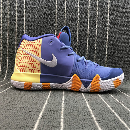 Wholesale Nike Kyrie 4 London AR6189-50 Purple Yellow Red White Yellow Haune Pourpre Rouge Blanc