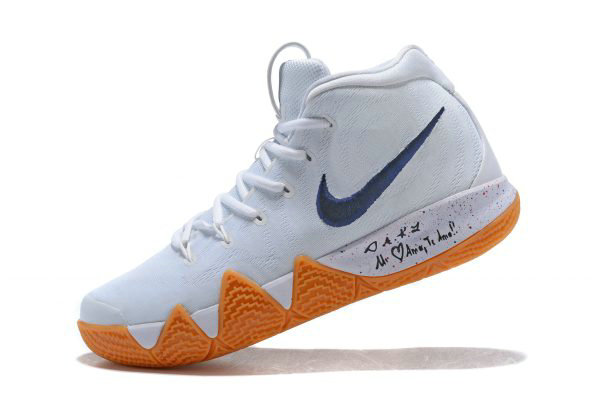 96708a530639 Cheap Wholesale Nike Kyrie 4 Uncle Drew White Gum Mens Basketball Shoes  AQ8623-001
