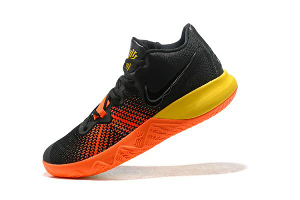 Cheap Wholesale Nike Kyrie Flytrap Black Orange-Yellow Mens Shoes Free Shipping