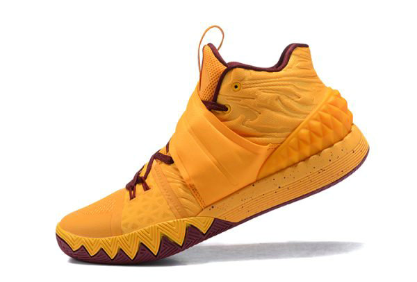 Cheap Wholesale Nike Kyrie S1 Hybrid Cavs Yellow Wine Red Basketball Shoes