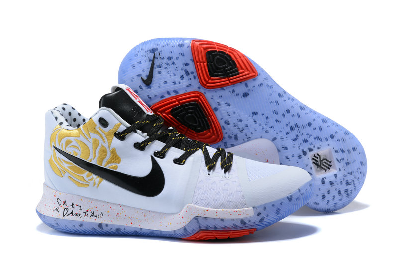 Nike Kyries Cheap Wholesale Kyrie Irving debuts Sneaker Room x Nike Kyrie 3 colloboration