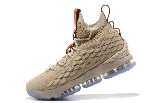 Cheap Wholesale Nike LeBron 15 Ghost String Vachetta Tan-Sail Basketball Shoes 897648-200