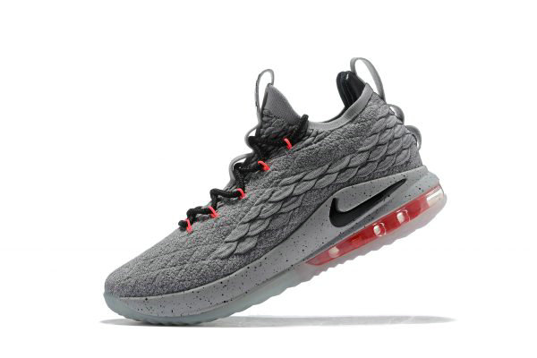 Cheap Wholesale Nike LeBron 15 Low Flight Pack Cool Grey Black-Teal Tint-Sunset Pulse AO1755-005