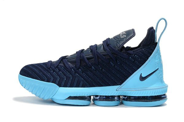 Cheap Wholesale Nike LeBron 16 Navy Blue Jade-White Mens Size Free Shipping