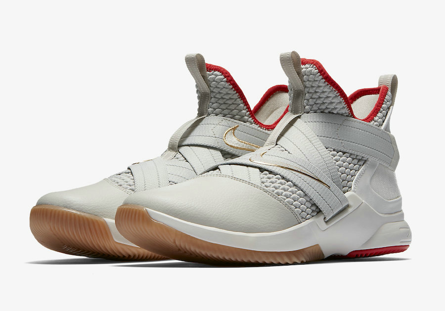 Cheap Wholesale Nike LeBron Soldier 12 AO2609-002 Light Bone Light Bone