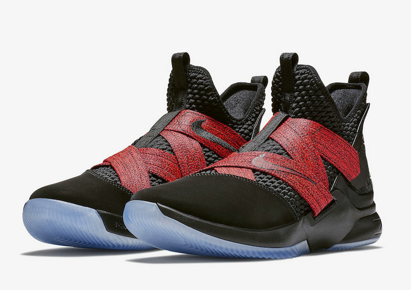 Cheap Wholesale Nike LeBron Soldier 12 AO2609-003 Red Straps
