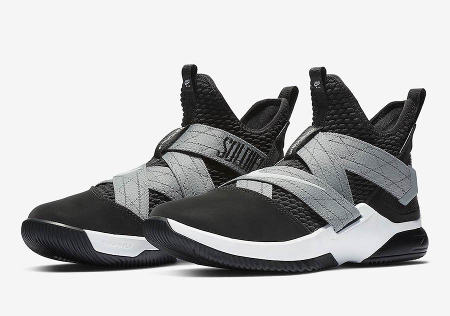 Cheap Wholesale Nike LeBron Soldier 12 SFG AO4054-003 Black White