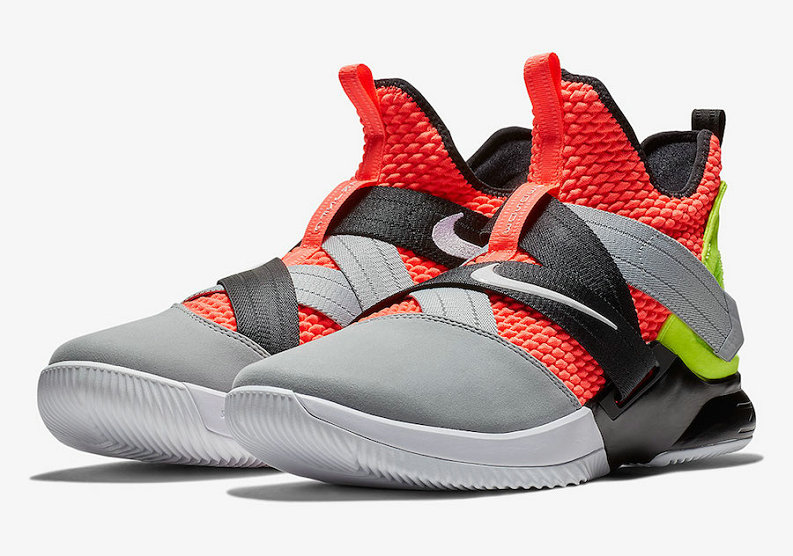 Cheap Wholesale Nike LeBron Soldier 12 SFG AO4054-800 Hot Lava Black-White
