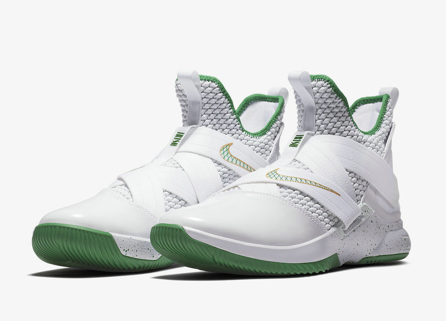 Cheap Wholesale Nike LeBron Soldier 12 SVSM Home AO2609-100 White Multi-Color