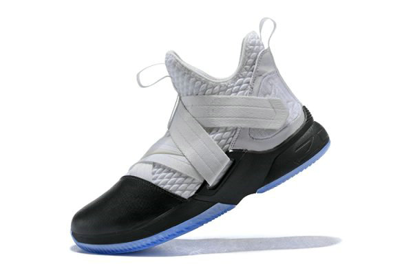 Cheap Wholesale Nike LeBron Soldier 12 White Black Mens Basketball Shoes