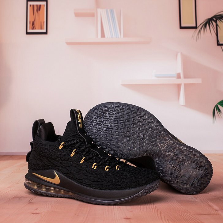 pretty nice b8ed5 85279 Wholesale Nike Lebron James 15 Low Cheap Black Gold - China ...