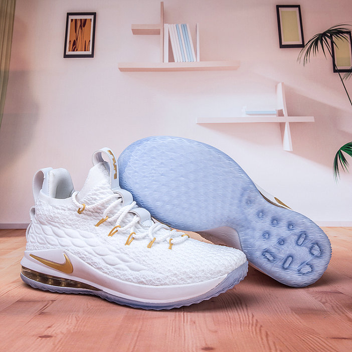 separation shoes 329a3 081e3 Wholesale Nike Lebron James 15 Low Cheap Gold White - China ...