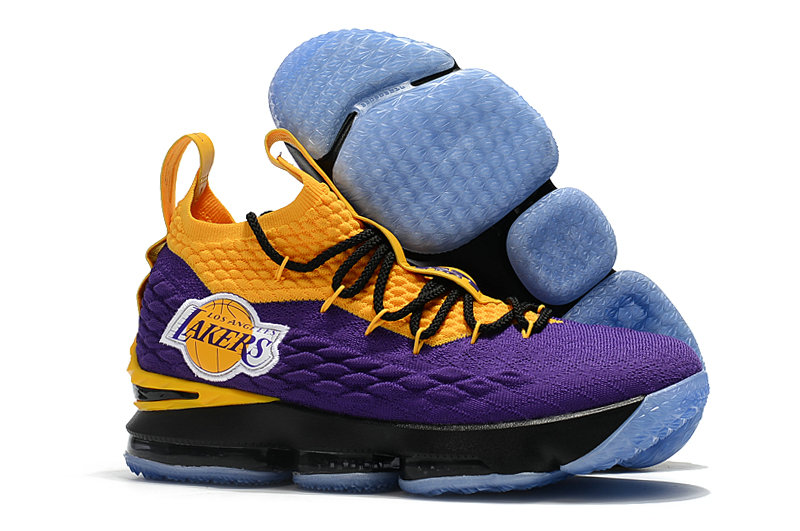 c656eb3e16bf Wholesale Nike Lebrons 15 Cheap Yellow Black Purple - China ...