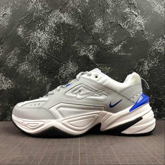 Wholesale Cheap Nike M2K Tekno AV4789-005 Wolf Grey Racer Blue Gris Loup Bleu Coureur